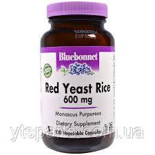Красный Дрожжевой Рис 600мг, Bluebonnet Nutrition, 120 гелевых капсул