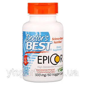 Защита Иммунитета, Doctor's Best, Epicor, 500 мг, 60 вегетарианских капсул
