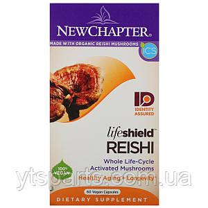 Грибы Рейши, Reishi, New Chapter, 60 вегетарианских капсул