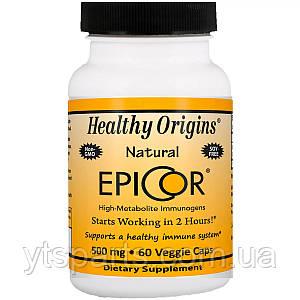 Эпикор, Природная Защита Иммунитета 500мг, EpiCor, Healthy Origins, 60 гелевых капсул