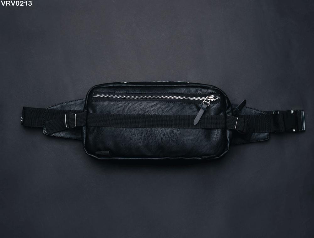 Поясная сумка Staff Square leather black