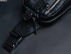 Поясная сумка Staff Square leather black, фото 3