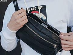 Поясная сумка Staff Square leather black, фото 2