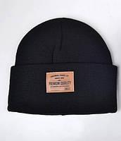 Зимняя шапка Arctic ОГ 54-58 см на флисе детская подростковая для мальчиков 080-Премиум чёрная
