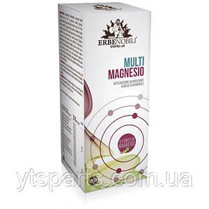 Мульти-Магний, Multimagnesio, Integratore Alimentare Di Minerali, Erbenobili, 60 таблеток