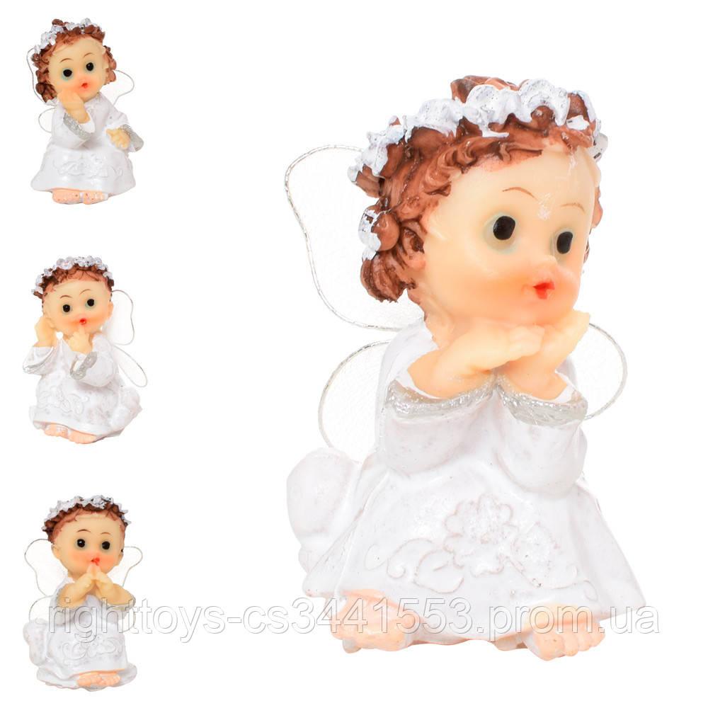 Фигурка 17-124 (480шт) ангелочек, 6см, в кульке, 4шт(4вида) в дисплее, 9,5-10-8см