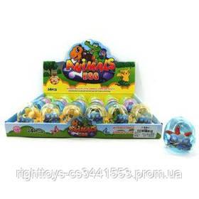 Яйцо KL02-2 (864шт) 6см, животные, от 7см, 24шт(микс видов) в дисплее, 34,5-24-8см