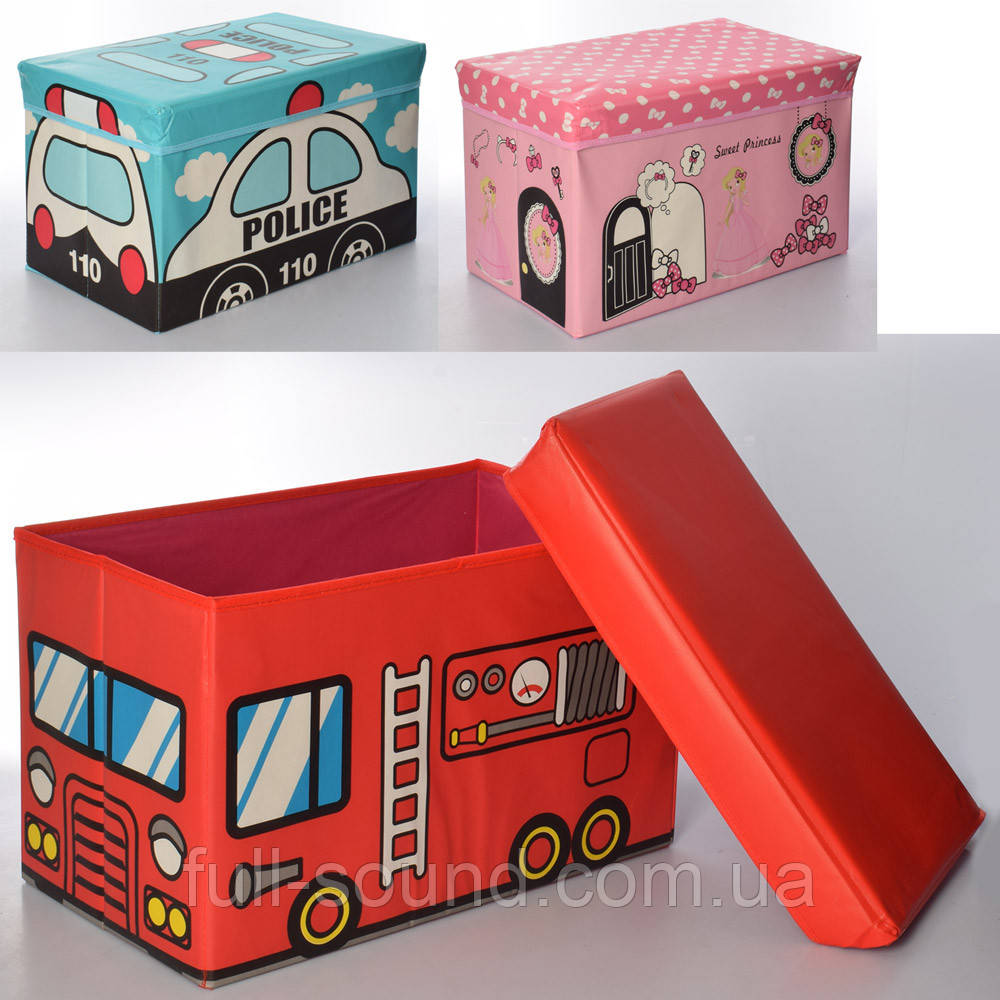 Корзина пуф для игрушек 0363