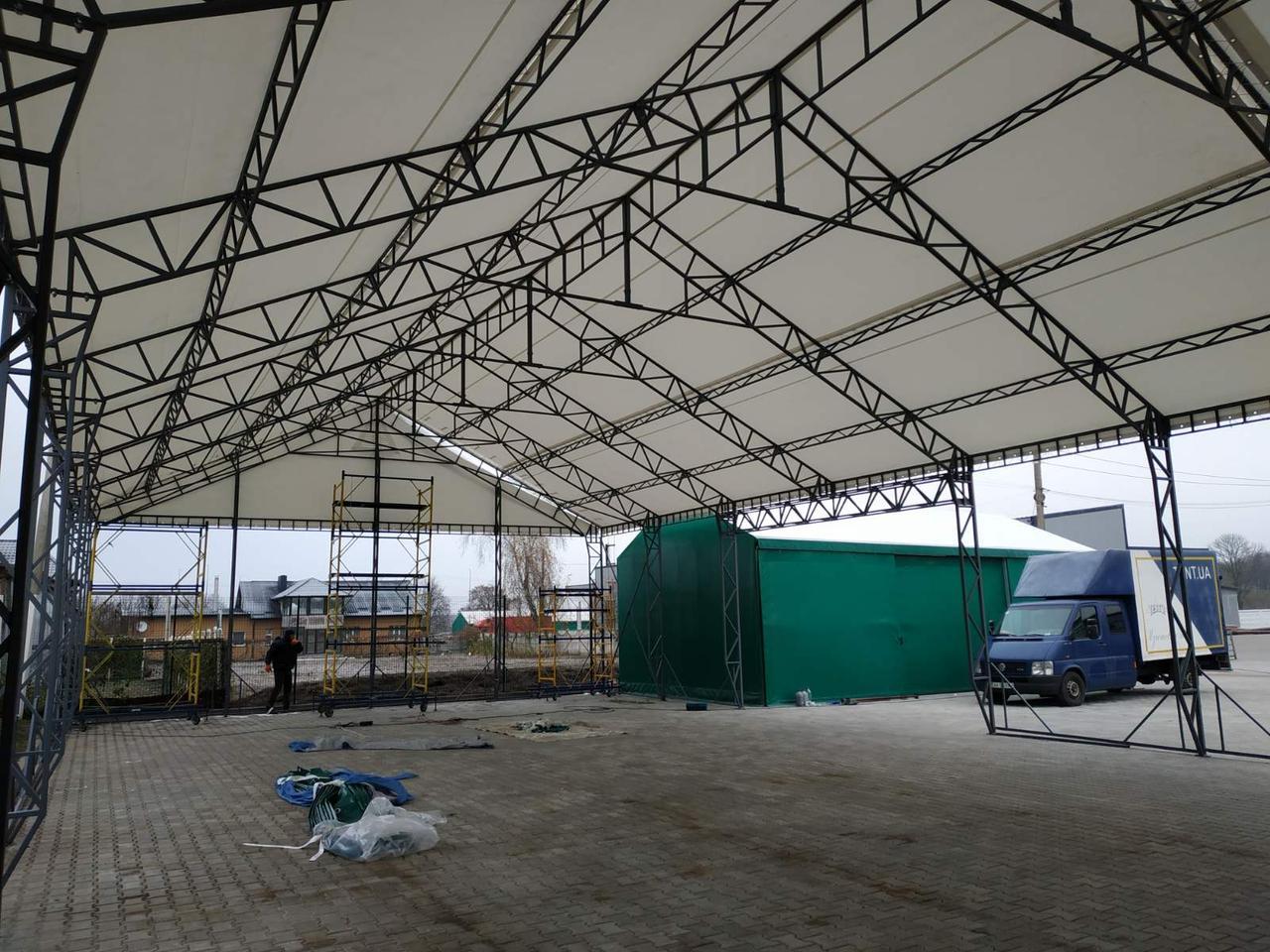 Строительство зданий и сооружений, быстромонтируемые каркасные ангары и павильоны от TENT.UA