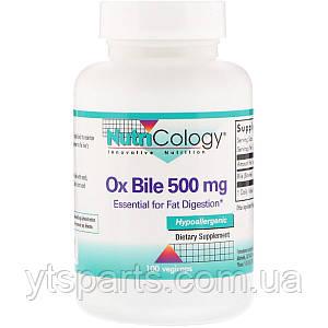 Бычья Желчь, 500 мг, Nutricology, 100 растительных капсул