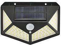 Светильник настенный (уличный) CL-100 (100 диодов) с датчиком движения и солнечной панелью (7317), фото 4