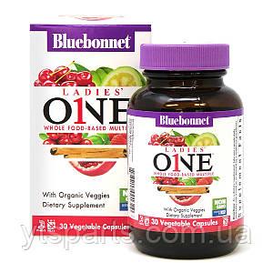 Женские Мультивитамины, Ladies' One, Bluebonnet Nutrition, 30 растительных капсул