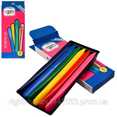 """Олівці воскові пластик 6 цв """"CrayonLab"""" ST00197 (480шт)"""