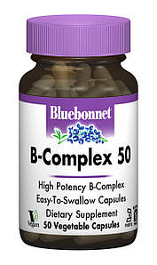 В-Комплекс 50, Bluebonnet Nutrition, 50 гелевых капсул