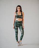 Спортивные Женские Лосины Asalart Classic Iguana Green Print