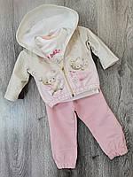 Детский костюм для новорожденных для девочки размер 62,68 (на 3,6 месяцев) Турция Замеры в описании