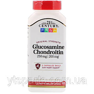 Глюкозамин & Хондроитин 250 мг/200 мг, 21st Century, Original Strength, 120 капсул