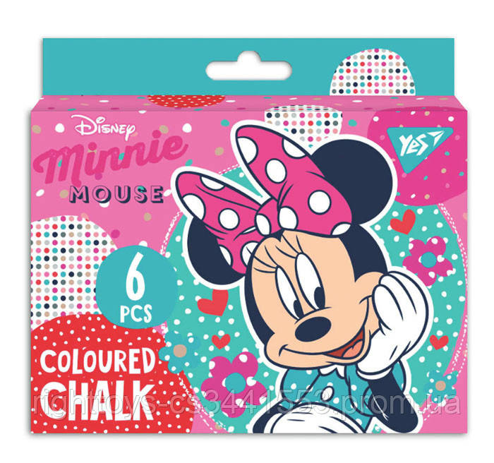 """Крейда YES кольорова JUMBO, 6 шт. """"Minnie Mouse"""""""