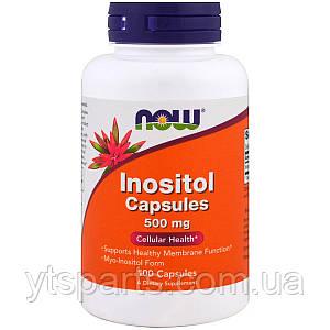 Инозитол (В8), Inositol, Now Foods, 500 мг,100 вегетарианских капсул