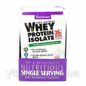 Изолят сывороточного белка, Вкус Клубники, Whey Protein Isolate, Bluebonnet Nutrition, 8 пакетиков