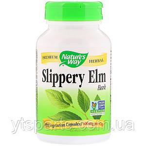 Скользкий Вяз, Slippery Elm Bark, Nature's Way, 400 мг 100 капсул