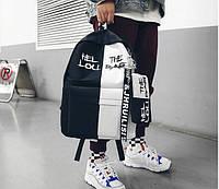 Спортивный тканевый рюкзак для школы с пеналом