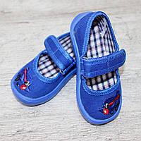 "Тапочки на липучках, детские ""Vitaliya"", размер 19 , Тапочки для садика, обувь для дома"