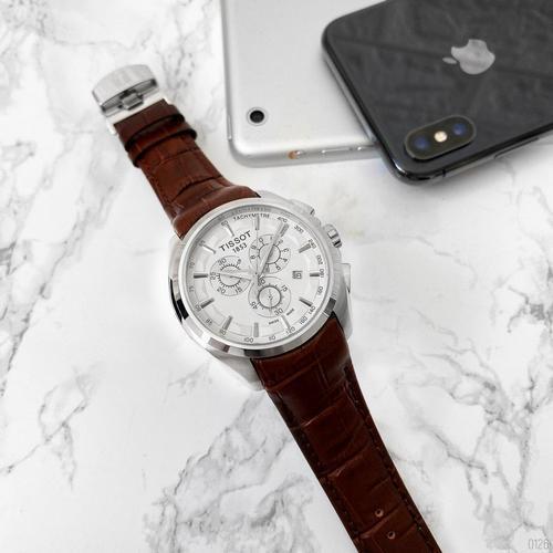 Tissot Chronograph (Brown-Silver-White)