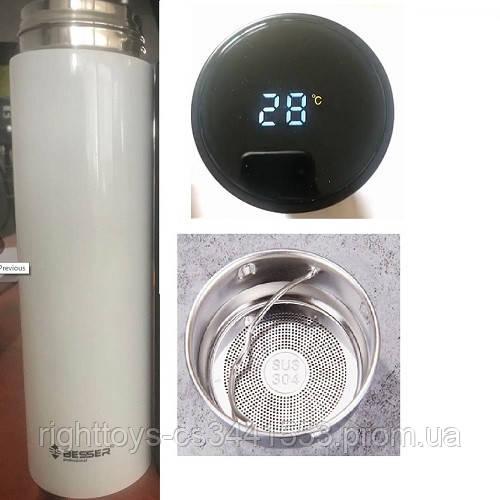"Термос с индикатором температуры ""White"" 450мл MT-3566W (50шт)"
