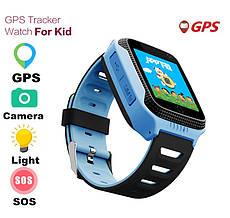Смарт часы детские с GPS + камера, Blue
