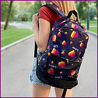 Городской рюкзак с принтом для старшеклассников и студентов, Рюкзак молодежный с рисунком, унисекс