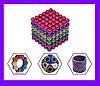 Неокуб Магнитный конструктор Неокуб (Neocube) 5мм магнитные шарики головоломка. Антистрес., фото 3