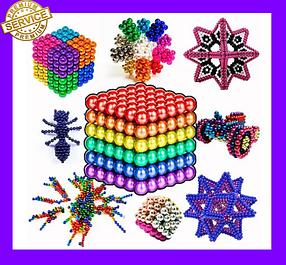 Неокуб Магнітний конструктор Неокуб (Neocube) 5мм магнітні кульки головоломка. Антистрес.