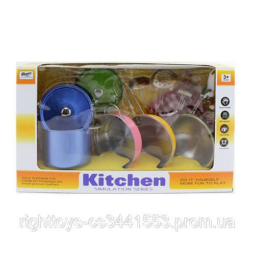 Посуд 555-CS005 (24шт) сковорідки,каструля,кухонь.набір,прихватки,метал,в кор-ке,37,5-21,5-11см