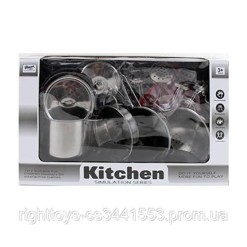 Посуд 555-BX001 (24шт) сковорідки,каструлі,кухонь.набір,прихватки,друшляк,метал,в кор-ке,37-21-11см