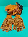 "Хозяйственные перчатки плотные оранжевая ""Work"" (7кл/5н) (10 пар), фото 3"