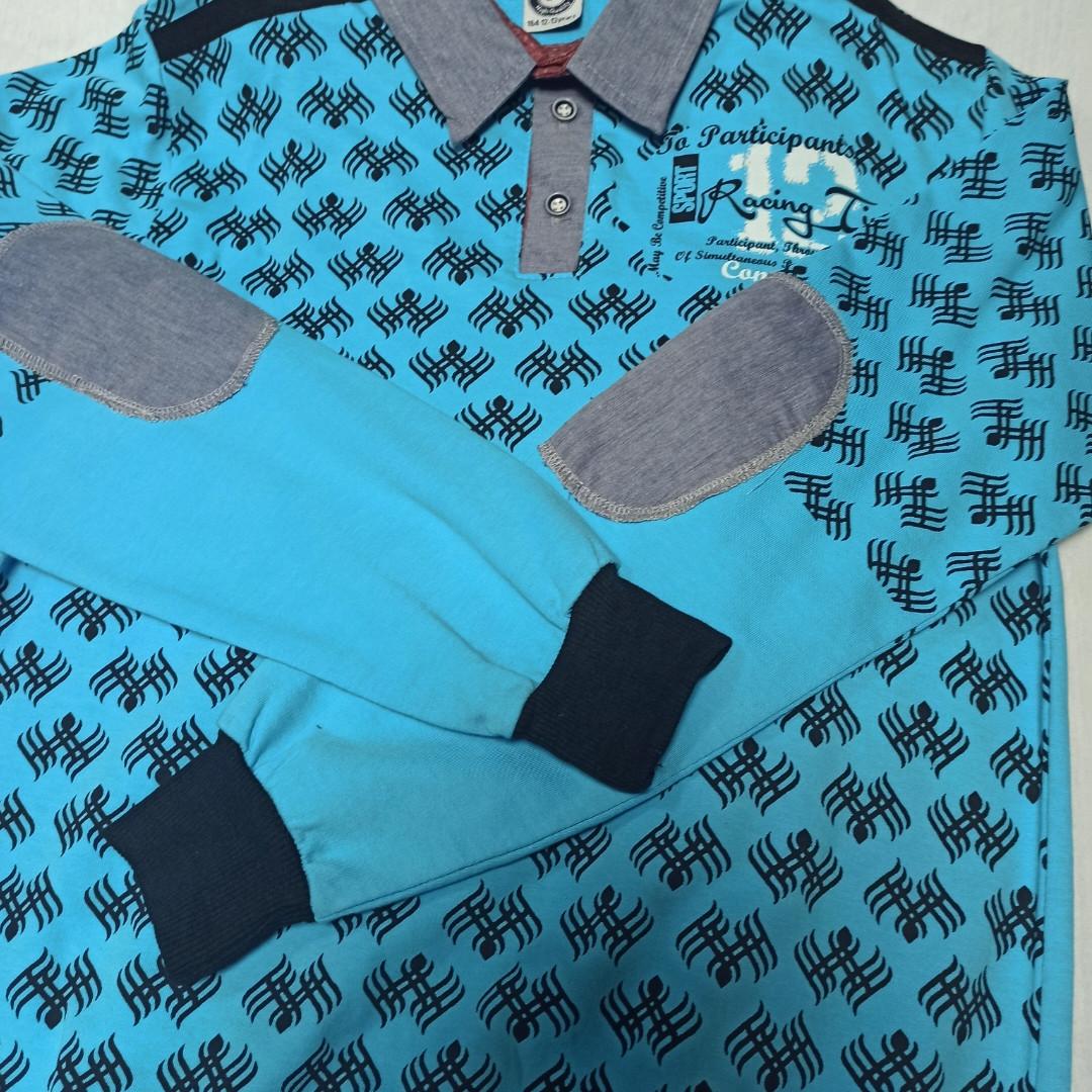 Рубашка модная красивая нарядная трикотажная для мальчика. Рукав на манжете. Низ кофты на манжете.