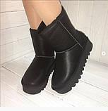 Угги женские черные кожаные 37, 40 размеры, фото 2