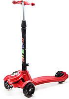 """Самокат трехколесный """"Scooter M-K PLUS"""" (красный) GS-0041"""
