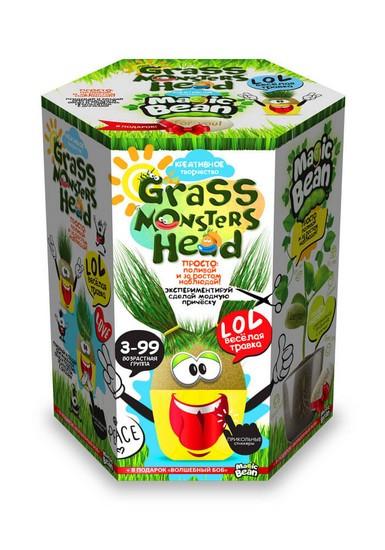 Набір Екоживчик-трав'янчик Grass monsters head 1 Danko Toys
