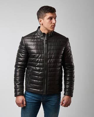 Мужские кожаные куртки и бомберы