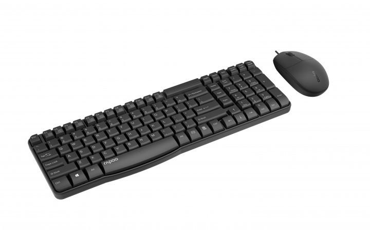 Комплект (клавиатура + мышь): Rapoo NX1820 USB Black