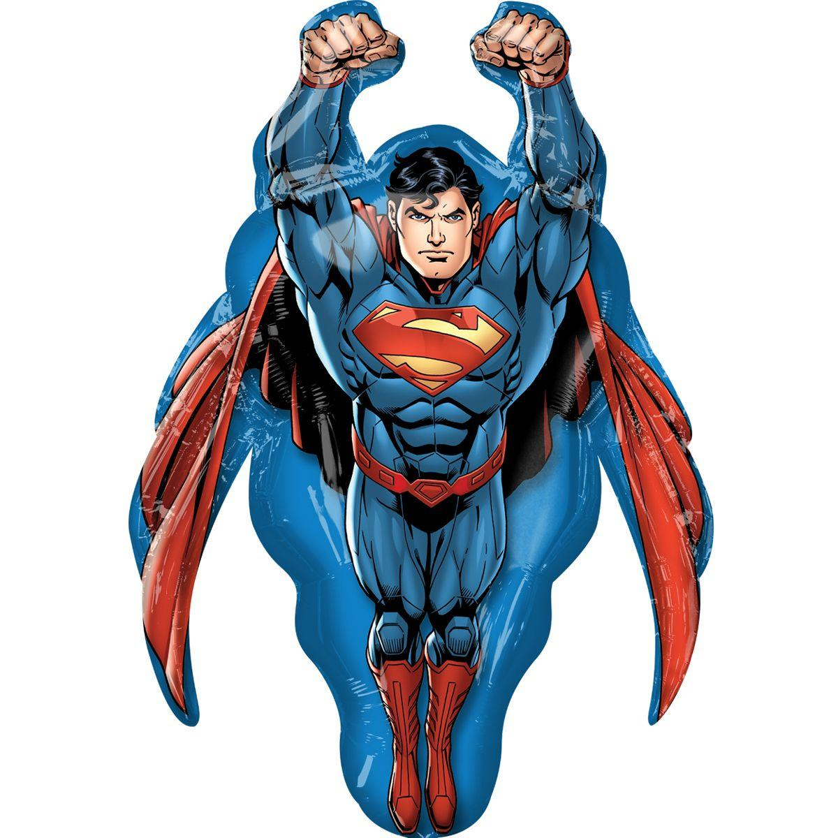 """Кулька 36"""" фігура фольгована """"Супергерої, Супермен"""" УП шт."""