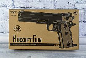 Пістолет на кулях металевий в коробці ZM25 Китай