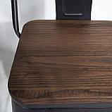 Стул барный Толикс Вуд, высокий, металл, матовый черный, фото 3