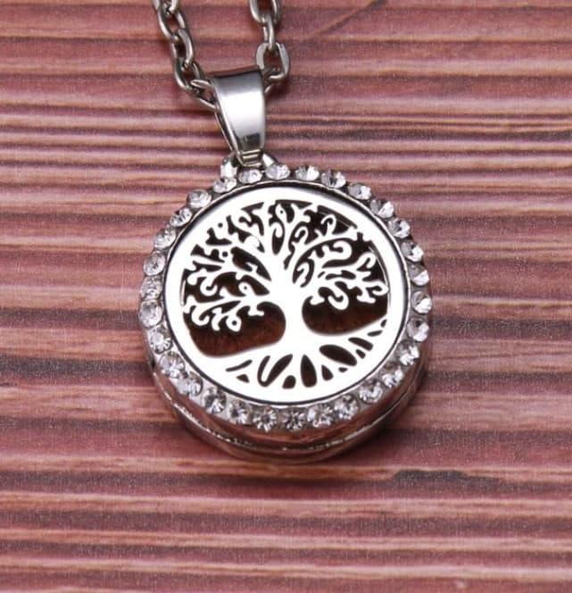 """Медальон для ароматерапии """"Райское дерево"""" с блоттером."""