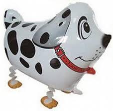"""Кулька 18"""" фігура фольгована ходяча """"Собачка Долматинець"""" Китай шт."""
