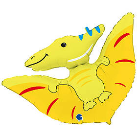 "Кулька 36"" фігура фольгована ""Птеродактль, динозавр"" УП шт."