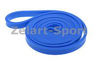 Резинка для подтягиваний (лента сопротивления) синий (латекс, l-104 см, 20 мм x 3,5 мм)