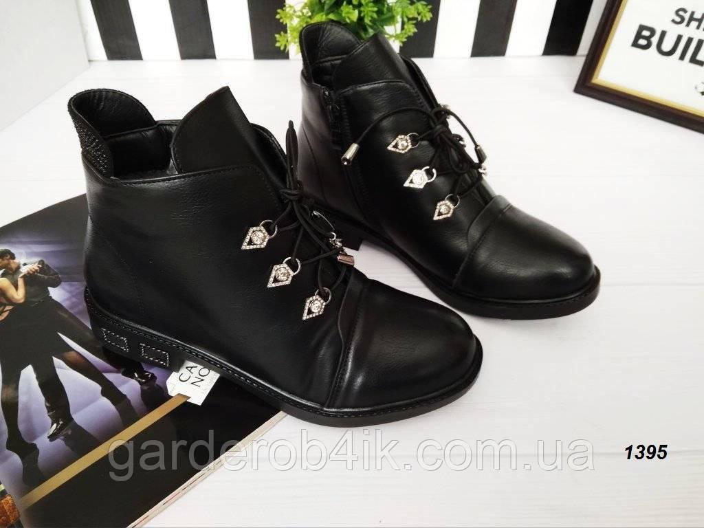 Женские зимние ботинки на удобном каблуке